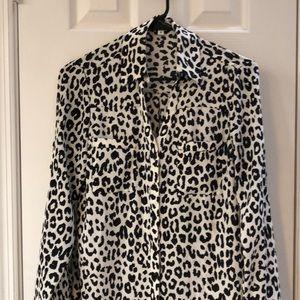 Express Portofino XS Leopard Print Blouse